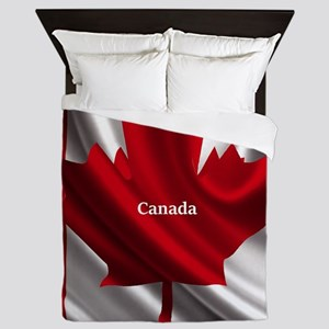 Canadian Flag Queen Duvet
